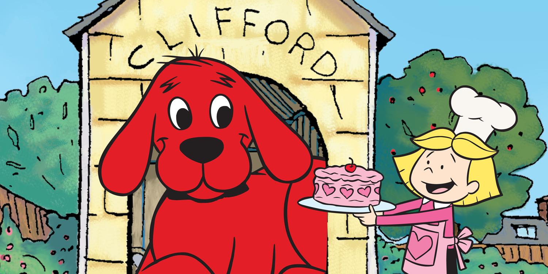 Clifford: O Gigante Cão vermelho Clifford, o Gigante Cão Vermelho é uma série de desenho animado que fala sobre um cachorro chamado Clifford que fica gigante ao ter uma dona, e então elas decidem viajar para a Ilha Birdwell.