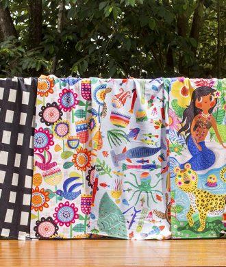 toalhas infantis estampadas coloridas