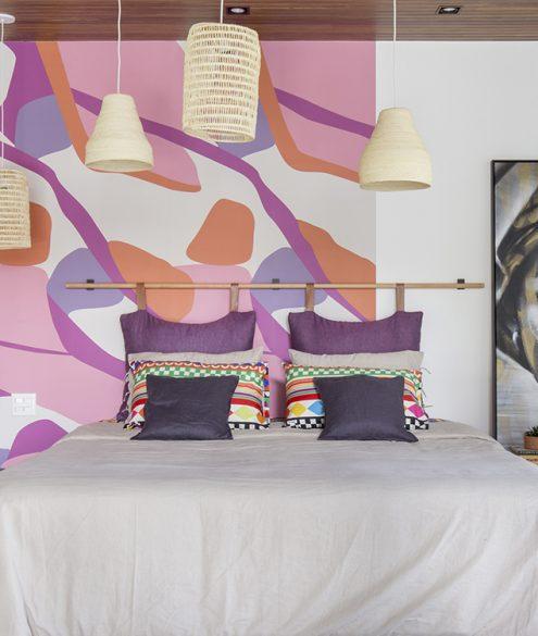 papel de parede colorido abstrato