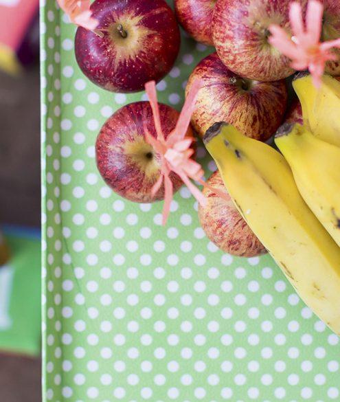 bananas e maçãs