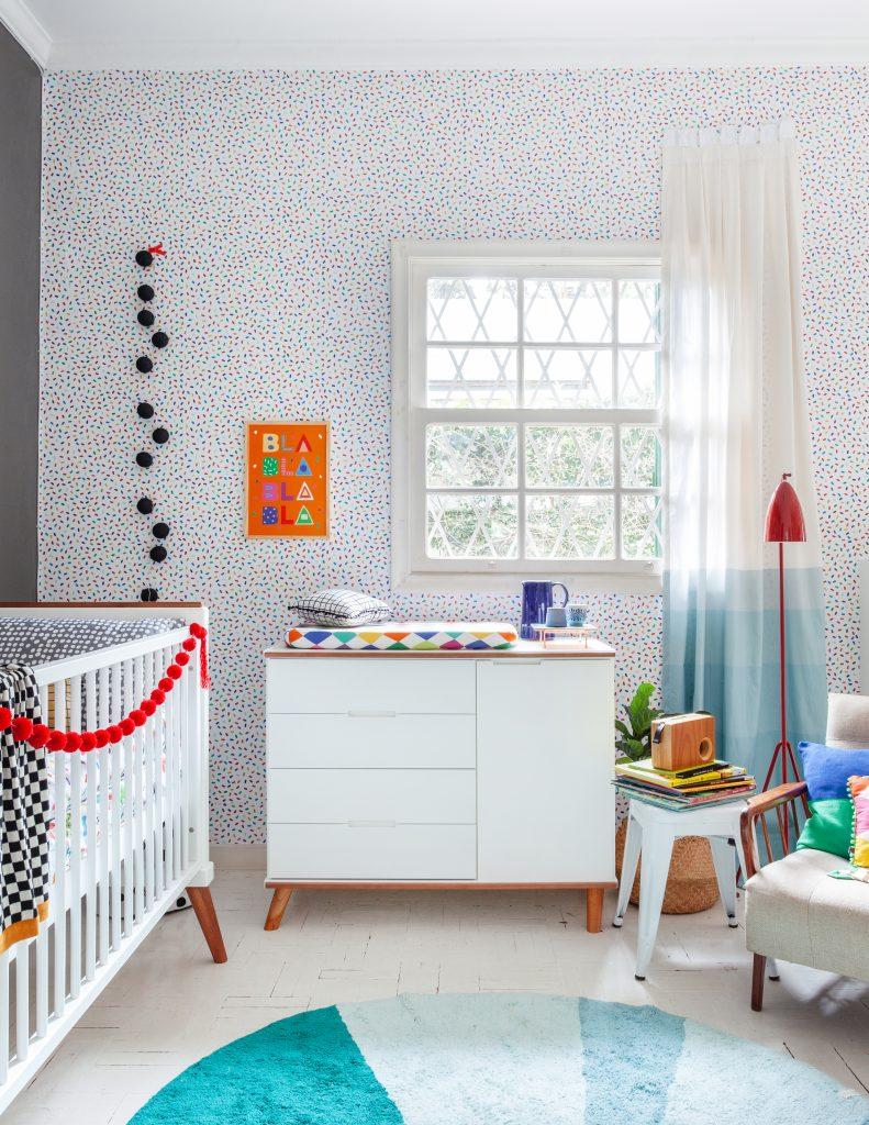 quarto azul para o bebê