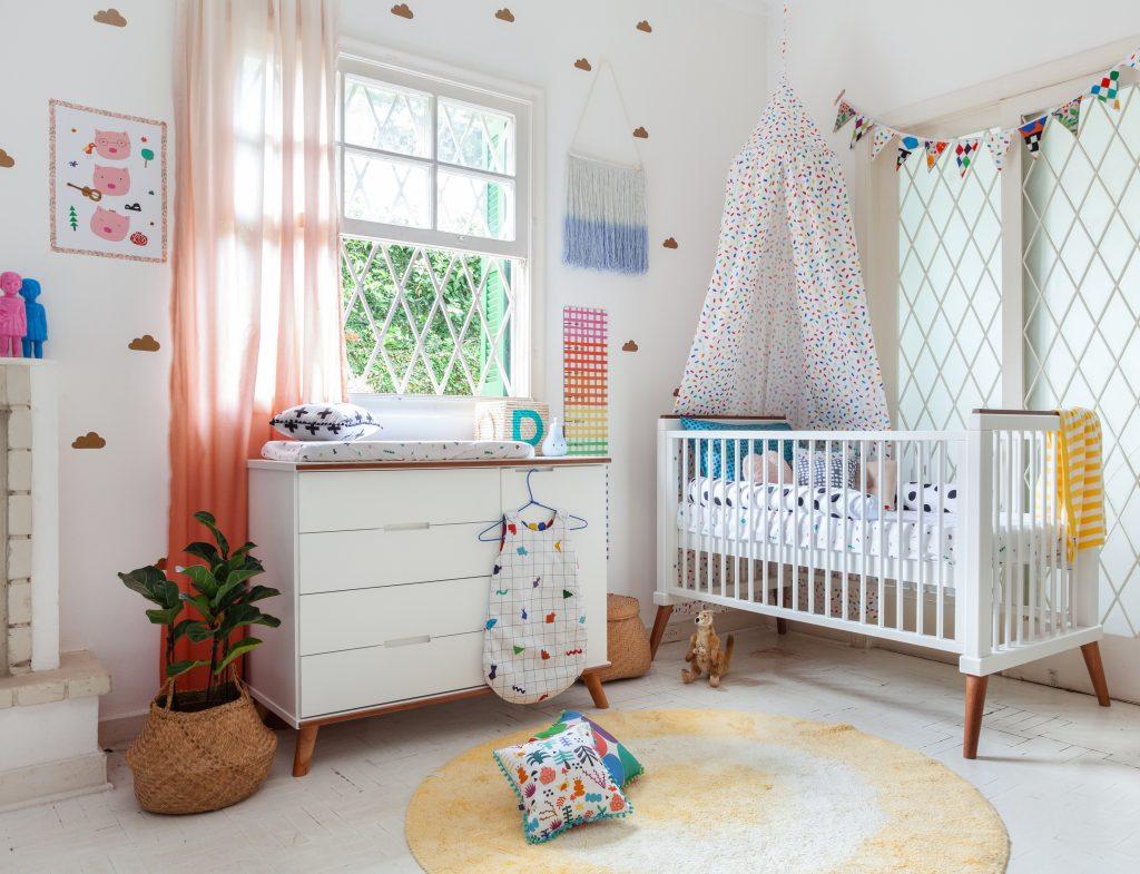 adesivo para quarto de bebê nuvens douradas