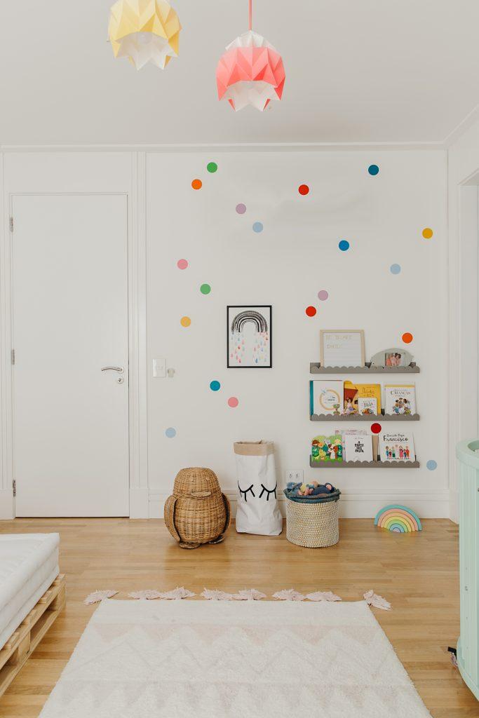 adesivo para quarto de bebê bolas coloridos