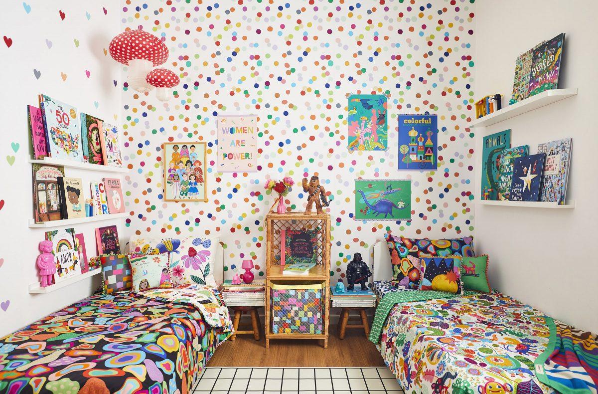 papel de parede bolinhas coloridas